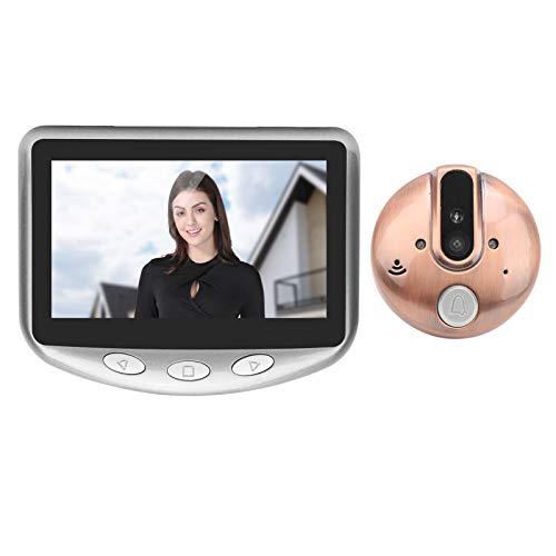 Ring Video Doorbell, con pantalla de 4.3in 720p, gran angular de 120 grados, visión nocturna, material de aleación de zinc, timbre inteligente, para seguridad en el hogar, control de acceso(gris)