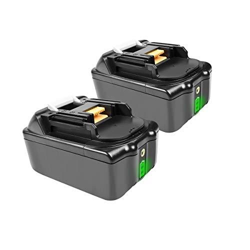 BL1830 Reserveaccu voor Makita met LED-laadindicator, 18V 6.0Ah, Li-ion accu, compatibel met Makita BL1850B BL1850 BL1860B BL1860 BL1840B BL1840 BL1830 BL1835 BL1845 194204-5 LXT-400 Makita-accu