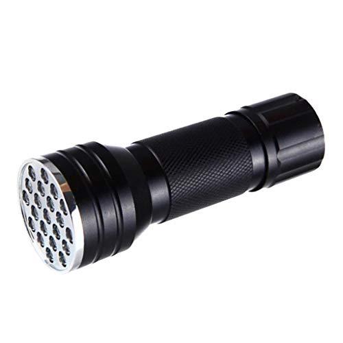 dailymall Linterna UV LED de Luz Negra, 21 LED 395NM Potente Luz Ultravioleta Detectora de para Mascotas con Luz Negra para de Perro, Escorpiones Y
