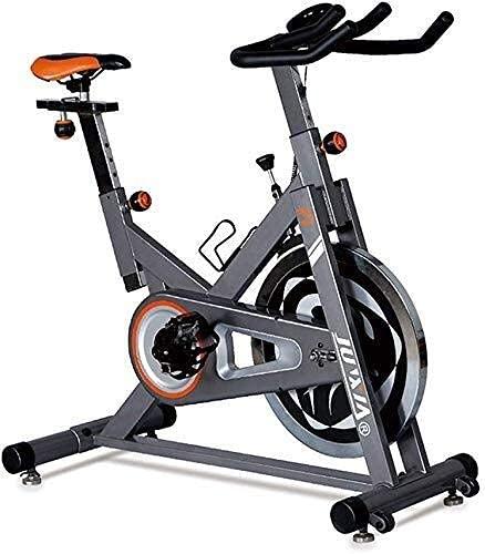 Bicicleta estática Ciclo de Entrenamiento aeróbico Máquina de Ciclismo en Interiores Entrenamiento Cardiovascular - Marco Resistente - Manillar Ajustable y sensores de frecuencia cardíaca de