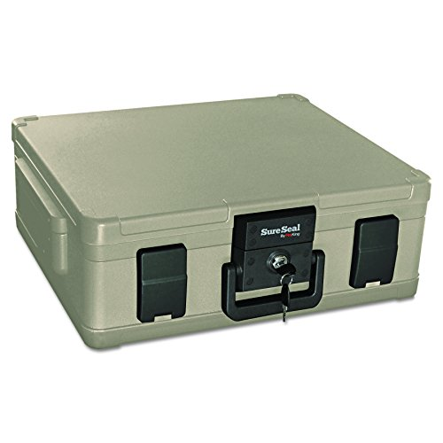 SureSeal by FireKing SS104-A 1 Hour Fireproof Waterproof Safe Chest, Fits Legal/Letter Sized Documents,0.38 CU FT Storage Capacity,Taupe