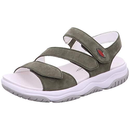 Gabor Rolling Soft Sandaal 46 827 30 Groen Nubuck Verwisselbaar Voetbed