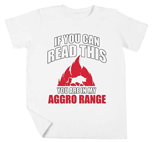 If You Can Read This You Are In My Aggro Range Niño Niña Unisexo Blanco Camiseta Manga Corta Kids White T-Shirt