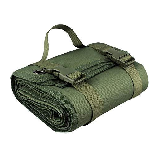 SASAU 200x75cm Matón de Camping Plegable Viaje al Aire Libre Picnic Manta Camping Colchón Cojín de Dormir Húmedo a Prueba de Humedad para Escalar Playa de Senderismo (Color : Green)