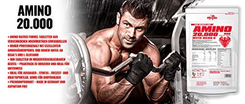 BWG Amino 20.000, Protein Tabletten, Muscle Line, 900 Tabletten, 1er Pack (1 x 1080g Beutel) - 2