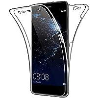 SDTEK Funda para Huawei P10 Lite 360 Doble Delantera [Transparente Carcasa] Full Body Case Bumper Cover Suave Silicona Huawei P10 Lite