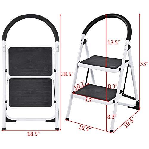 SHIJING Vouwkruk Heavy Duty Industriële Lichtgewicht 2 Stap Ladder Thuis Meubilair Stap Kruk
