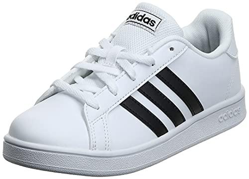 Adidas Grand Court K, Zapatillas, Blanco Negro Blanco, 37 1/3 EU