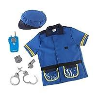 Milageto 6ピース/個キッズはトランシーバー帽子アクセサリーで警察官の衣装をドレスアップします