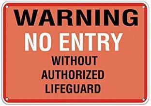 Warnschild Aufschrift Entry Without