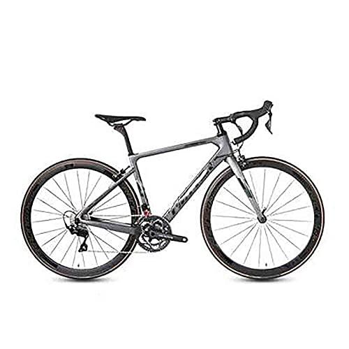 WXXMZY Bici Da Strada In Fibra Di Carbonio, Bici Da Strada In Fibra Di Carbonio 700C, Dotata Di Sistema Di Trasmissione A 22 Velocità E Freni A Disco (Color : H, Size : 510mm)