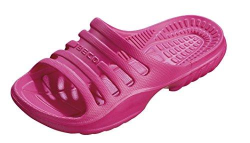 BECO Kinder Badepantolette / Badeschuh / Badelatschen pink 34