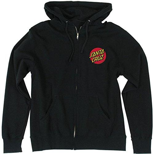 Santa Cruz Mens Classic Dot Hoody Zip Sweatshirt Small Black