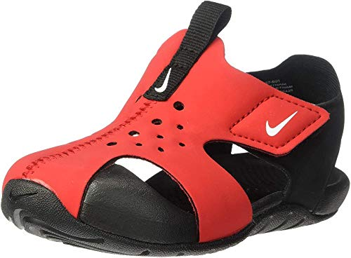 Nike Sunray Protect 2 (TD), Sandalias Bebé Unisex, Multicolor (Photo Blue/Bright Crimson/Black 400), 21 EU