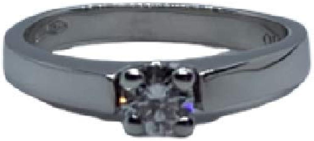 Chimento,anello per donna, in oro bianco 18 kt(4,1 gr)con diamante 0,30 ct