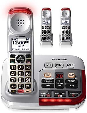 Panasonic KX TGM450S 2 KX TGMA45S with Volume Boost Control for Amplified Caller Voice Cordless product image