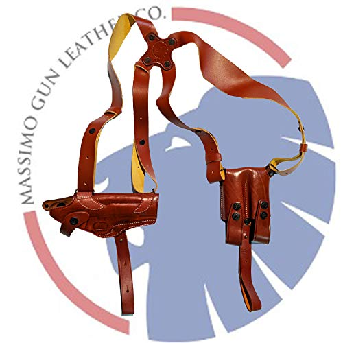 COLT 1911 Leather Horizontal Shoulder Holster (Brown)