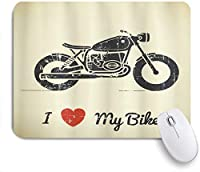 HASENCIV ゲーミング マウスパッド,男らしいビンテージグランジフラット探しバイクと私は私のバイクが大好き,マウスパッド レーザー&光学マウス対応 マウスパッド おしゃれ ゲームおよびオフィス用 滑り止め 防水 PC ラップトップ