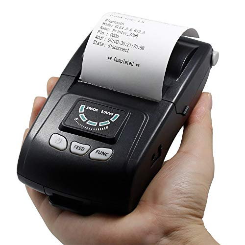 Best Bargain ZUKN 58Mm Mini Portable Wireless Bluetooth Receipt Thermal Printer Barcode Receipt Univ...