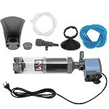 Pssopp 5 en 1 Tanque de Peces de Acuario Filtro Ultra silencioso Bomba de Filtro de Tanque de Peces Multifuncional de 3 etapas Bomba de Filtro de colección Interna de Acuario(EU 220V)