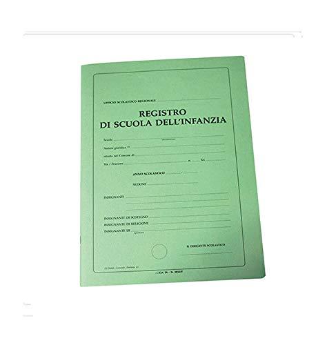 REGISTRO SCOLASTICO PER LA SCUOLA INFANZIA 40 PAGINE + COPERTINA PER 30 ALUNNI
