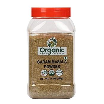 Organic Garam Masala | 8oz | USDA Organic Approved | Vegan | Non-GMO All Natural Blend - 100% Raw from India by SHOPOSR  8oz