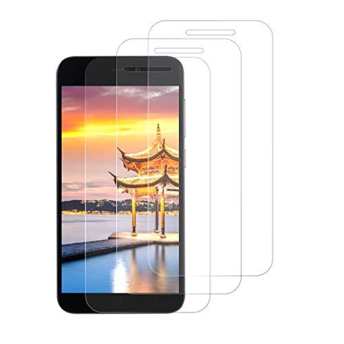 Zsmzzd Protector de Pantalla para Xiaomi Mi A1/5X,3 Piezas Cristal Templado,9H Dureza,HD Transparente, Anti-Burbujas,Anti-aArañazos, Alta Sensibilidad Vidrio Templado