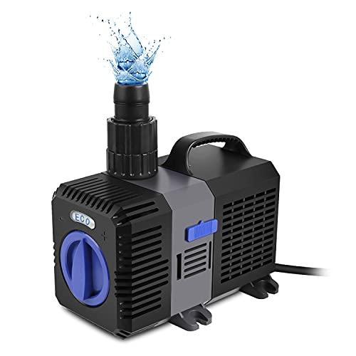 Forever Speed Super ECO Teichpumpe Filterpumpe Energiespar Wasserpumpe Koiteich Bachlaufpumpe (3000-12000L/H) 8000L/H