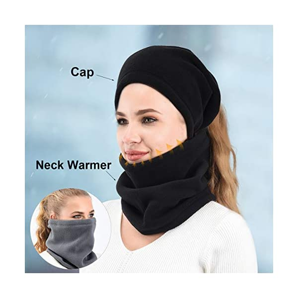 Neck Warmer Gaiter 2 Pack, Windproof Ski Mask, Winter Neck Face Cover for Men Women Outdoor Sports