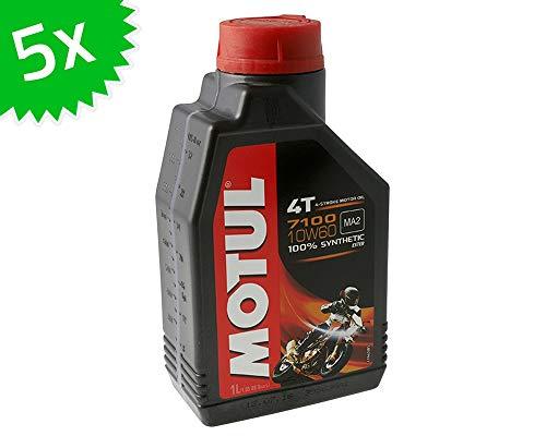 MOTUL 4T 10W60-7100 - Olio Motore Sintetico, 5 l, 4 Tempi, 1 l