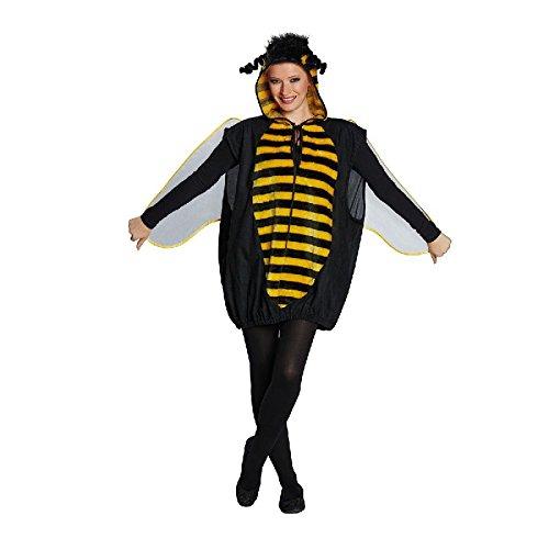 4U-Onlinehandel 14754-S Biene Gr. S Karneval Fasching Mottoparty Damenkostüm Kostüm Kapuzenoberteil, Multi-Colored