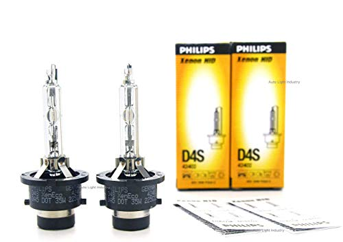 PHILIPS D4S 4300K XenEco OEM Replacement HID XENON bulbs 42402 35W DOT Germany - Pack of 2 by ALI