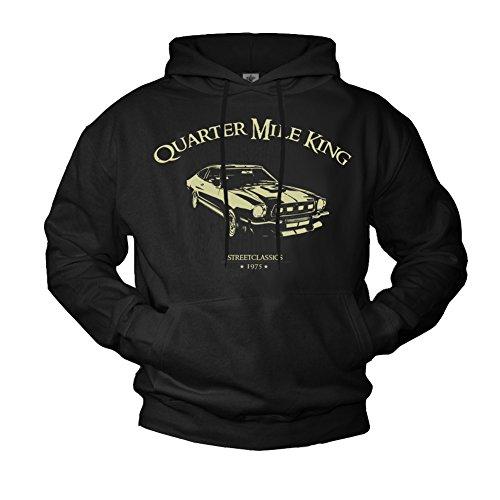 Sudadera con Capucha Hombre - Ford Mustang 1975 - Negra XXL