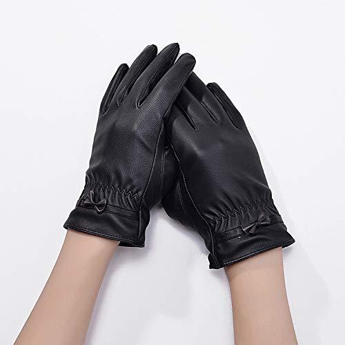 JXFM handschoenen voor dames en heren, touchscreen, voor herfst en winter, van leer, met touchscreen