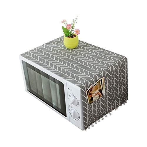 HHYK Dunstabzug Mikrowelle Staubschutz mit Aufbewahrungstasche Küchenzubehör Home Decoration Supplies (Color : Grey, Specification : 30 cmx90 cm)
