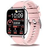 Sudugo Smartwatch Donna, Orologio fitness 1,69'' Touch Schermo Smart Watch con 24 Modalità Sportive, Contapassi, Cardiofrequenzimetro, Activity Tracker Sportivo Impermeabile IP67 per Android IOS Rosa
