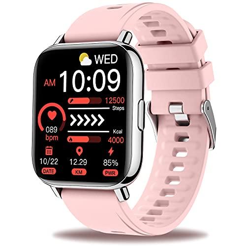 """Sudugo Smartwatch Mujer, 1.69"""" Reloj Inteligente 24 Modos Deporte Pulsera Actividad con Monitor de Sueño y Caloría Pulsómetro, Impermeable IP67 Notificaciones Smart Watch para Android iOS, Rosa"""