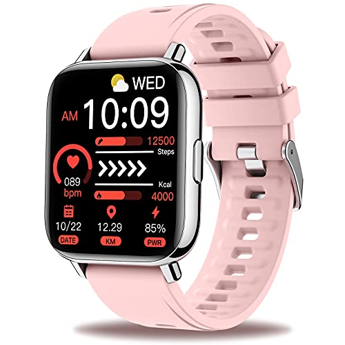 Sudugo Smart Watch Women, Fitness Watch 1.69' Touch Screen Smartwatch, Pedometer Watch with Heart Rate and Sleep Monitor, IP67 Waterproof Fit Watch, Activity Tracker Watch for iPhone and Android Pink