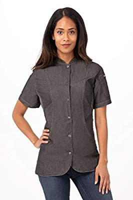 Chef Works Women's Chelsea Chef Coat, Black, Large