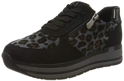 MARCO TOZZI Damen 2-2-23719-23 Sneaker, Schwarz (Black/Leo 005), 39 EU