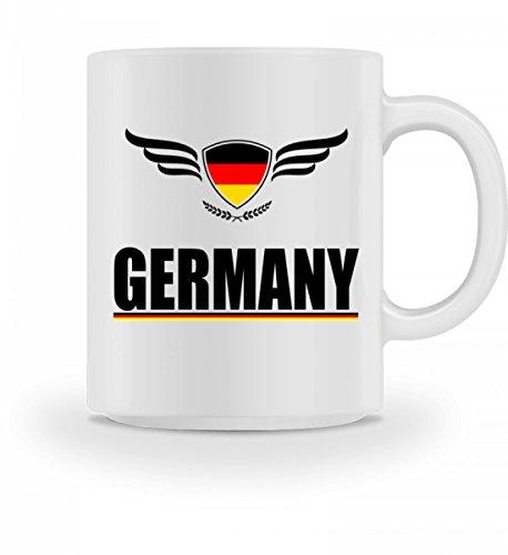 Hochwertige Tasse - Germany Trikot Fussball Deutschland Fahne Geschenk