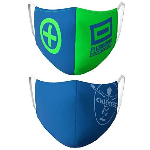 Chiemsee Mund-Nasen-Maske Behelfsmaske Alltagsmaske (Herren | blau & grün)