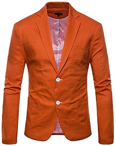 Yonglan Men Plus-Size Two-Button Blazer Jacket
