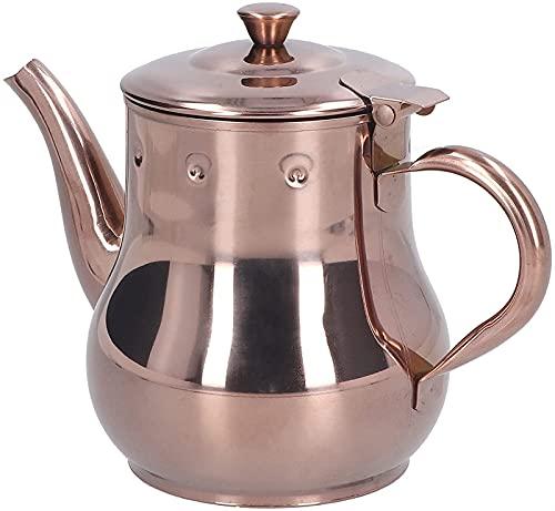 ZFQZKK Czajnik z uchwytem, łatwy w użyciu doniczko z kawą Róża złoto Wygodny uchwyt do kuchni dla kawiarni Dzbanek do kawy z długimi ustami