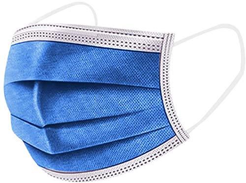 FTG PARAPHARMA mascherina colorata ipoallergenica made in italy DM di classe 2 imbustata a 10 imballo 100 pz colore (Blu Jeans)