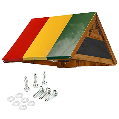 """Mofeez 52"""" x 90"""" Swing Set Replacement Tarp for Play Set Outdoor, Multi-Color"""