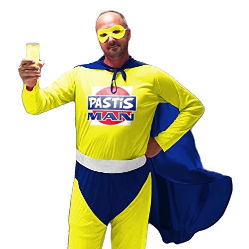 Déguisement Super Pastis Man - Coloré - Taille Unique