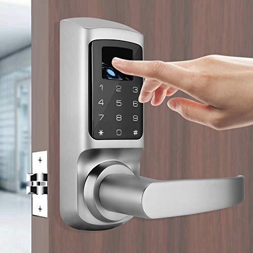 Intelligentes Türschloss, Diebstahlsicherung Intelligenter biometrischer Fingerabdruck Digitale elektronische Passwortsperre Kontrollsystem Eingangstor Sicherheitsriegel