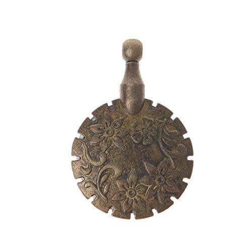 ZZALLL Cortador de Hilo de Coser, Colgante de Forma Redonda, Herramienta de Bricolaje Artesanal de Bronce Antiguo, hogar