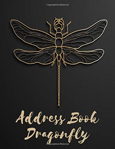 Address Book Dragonfly: Large Print Home Telephone Address Book for Seniors & Women - Brilliant Alphabetical Notebook Organizer for Contacts, Addresses, Phone Numbers, Emails & Birthdays
